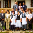 Zalan guesthouse team with The Prince of Wales and Count Kalnoky