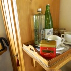Tea and coffee in the guestroom, zalan, Transylvania. Photo: Kalnoky.